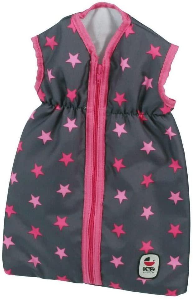 Śpiworek dla lalki bobas do 55 cm - w różowe gwiazdki