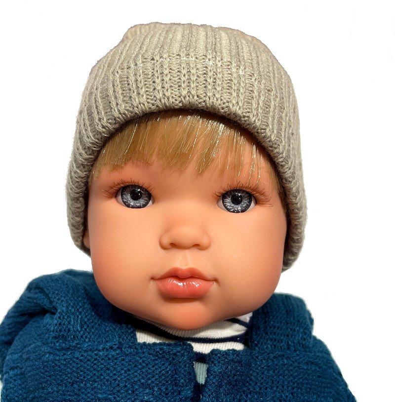 Lalka chłopiec, blond włoski, niebieskie oczy, Antonio Juan 2813
