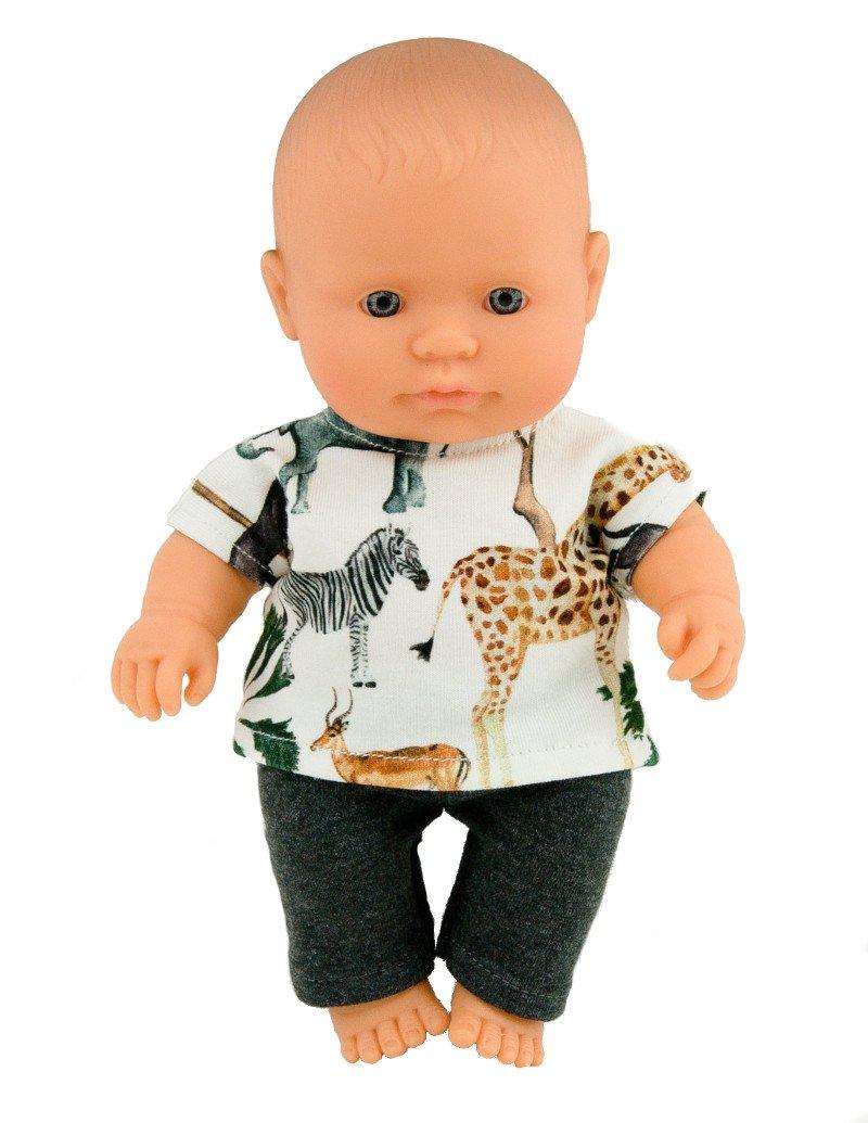 Ubranko dla małej lalki - żyrafa - Safari