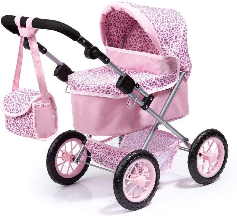 Wózek dla lalek, składany, z regulowaną rączką, Bayer Design 13002AA