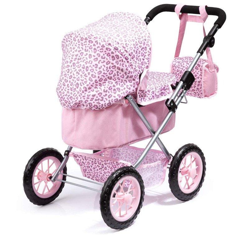 Wózek dla lalek, Bayer Design 130002AA, Różowy Leopard (Trendy)