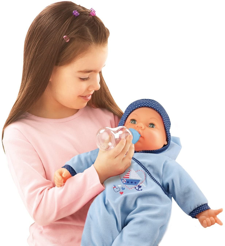 Interaktywna lalka bobas - Hello Baby Boy - Bayer Design 94683AA